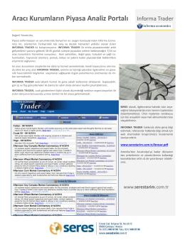 Aracı Kurumların Piyasa Analiz Portalı Informa Trader