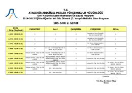 105-SHK 2. SINIF - Ataşehir Adıgüzel Meslek Yüksekokulu