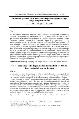 Ful Text(Pdf) - Karatekin Üniversitesi Sosyal Bilimler Enstitüsü Dergisi