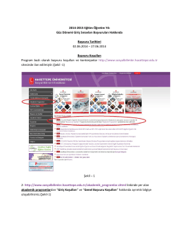 2014-2015 Egitim Ögretim Yili Güz Dönemi Giris