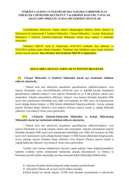 türkiye çalışma ve iş kurumunda 14.05.2014 tarihinde ilan edilecek