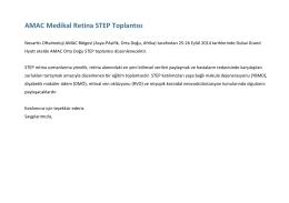 AMAC Medikal Retina STEP Toplantısı