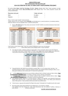 orion eğitim vakfı özel güzelbahçe piri reis okulları 2014