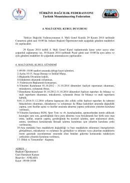 SAYI :TDF/ - Spor Genel Müdürlüğü