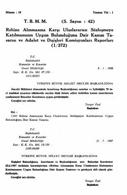 S. Sayısı : 42 - Türkiye Büyük Millet Meclisi