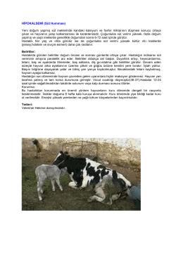 hipokalsemi(süt humması)