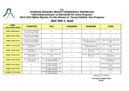 203-TDS 1. Sınıf - Ataşehir Adıgüzel Meslek Yüksekokulu