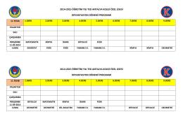 2014-2015 öğretim yılı ted antalya koleji özel lisesi oryantasyon