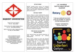 ryla semıner programı - Başkent Üniversitesi