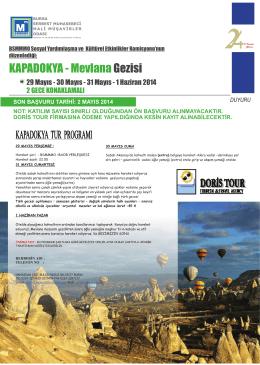 KAPADOKYA - Mevlana Gezisi