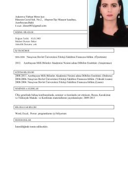 Askerova Türkan Mirze kızı Hüseyin Cavid Sok. No:2 , Abşeron İlçe