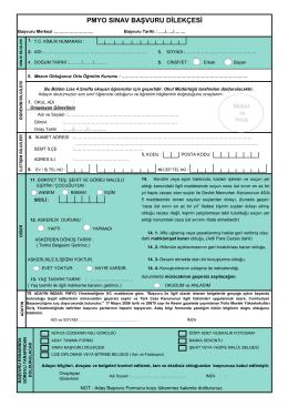 pmyo sınav başvuru dilekçesi