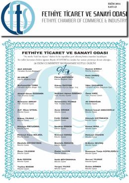 Sayı- 43 - Fethiye Ticaret ve Sanayi Odası