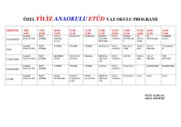 Etüd Programı - Filiz Anaokulu