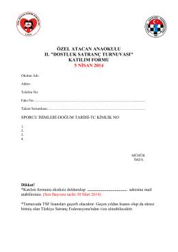 katılım formu 5 nisan 2014