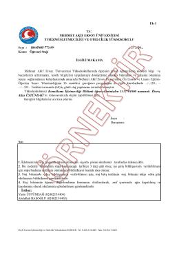 002 - Mehmet Akif Ersoy Üniversitesi Turizm İşletmeciliği ve Otelcilik