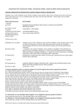 2014-102095 Mal Alımı İhale ilanı