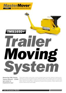 MasterTug TMS (Treyler Taşıma Sistemi) - 11000 kg