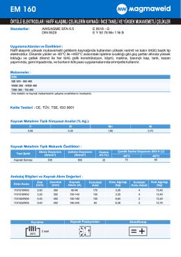 EM 160 - Oerlikon Kaynak