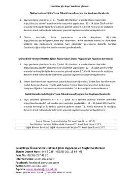 Celal Bayar Üniversitesi Uzaktan Eğitim Uygulama ve Araştırma