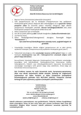 Askerlik erteleme - gerekli belgeler - Turkish Embassy