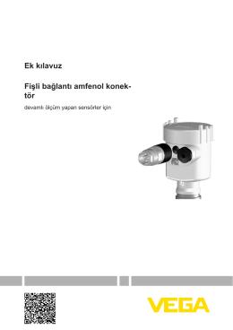Fişli bağlantı amfenol konektör - devamlı ölçüm yapan