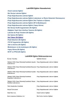 Labview eğitim hizmetleri