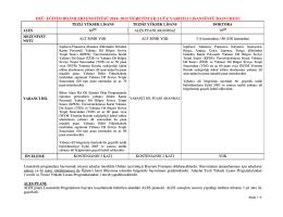 başvuru belgeleri/genel şartlar - Eğitim Bilimleri Enstitüsü