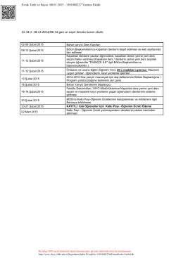 Ek.34.1: 18.12.2014/06-34 gün ve sayılı Senato kararı ekidir.