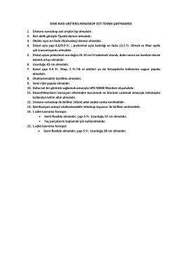 SEMİ-RIJID URETERO-RENOSKOP SETİ TEKNİK ŞARTNAMESİ 1