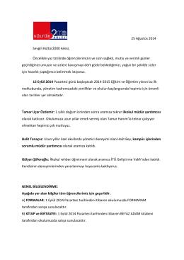 2014-2015 veli bilgilendirme mektubu