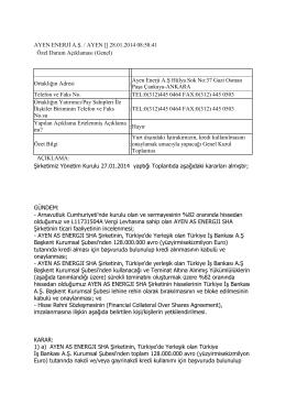 29.01.2014 Genel Bildirim