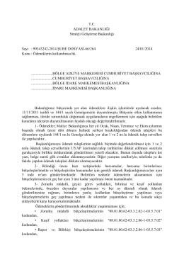 2014 Ödeneklerin kullanılması hakkındaki duyuru
