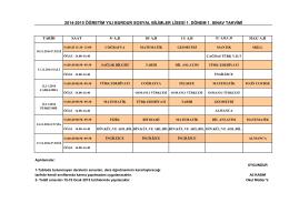 2014-2015 öğretim yılı burdur sosyal bilimler lisesi 1. dönem 1