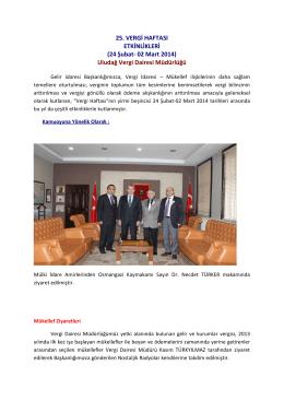 Uludağ Vergi Dairesi Müdürlüğü - Bursa Vergi Dairesi Başkanlığı