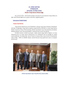 Nilüfer Vergi Dairesi Müdürlüğü - Bursa Vergi Dairesi Başkanlığı