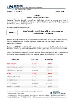 Duyuru-2014-34 - uhy uzman yeminli mali müşavirlik ve bağımsız