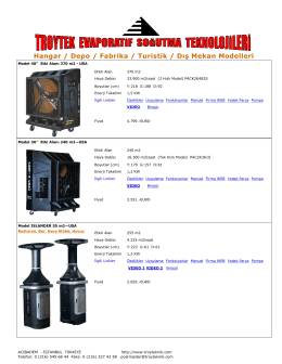 Hangar / Depo / Fabrika / Turistik / Dış Mekan Modelleri