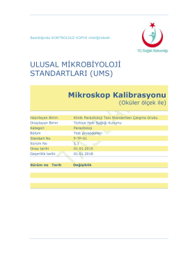 Mikroskop kalibrasyonu - Türkiye Halk Sağlığı Kurumu