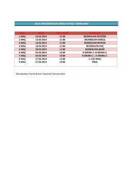 2014 üniversiteler arası futbol turnuvası