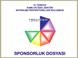 Sponsorluk - TÜSAYDER Satınalma Profesyonelleri ve Yöneticileri