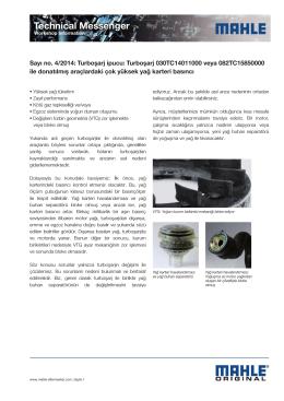Sayı no. 04/2014: Turboşarj ipucu