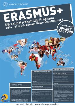 Öğrenim Hareketliliği Programı - Uluslararası İlişkiler Birimi