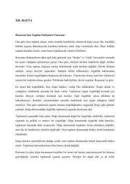 xıı. hafta - Ankara Üniversitesi Açık Ders Malzemeleri