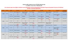 pedagojik formasyon eğitimi programı 1.yarıyıl ara sınav programı