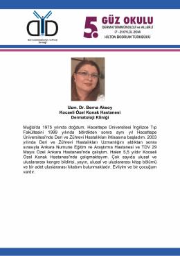 Uzm. Dr. Berna Aksoy Kocaeli Özel Konak Hastanesi Dermatoloji