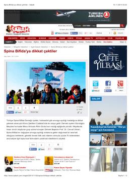 Spina Bifida 01 Kasım 2014 - Türkiye Spina Bifida Derneği