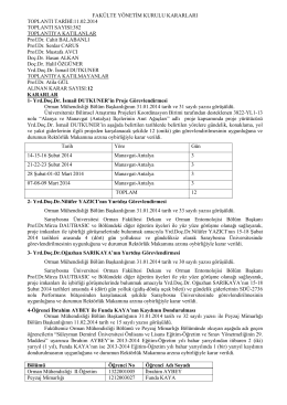 11.02.2014 tarih 382 nolu Toplu Yönetim Kurulu