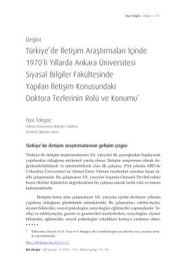 Yükle () - Ankara Üniversitesi