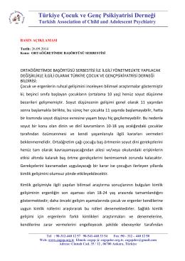 Türkiye Çocuk ve Genç Psikiyatrisi Derneği